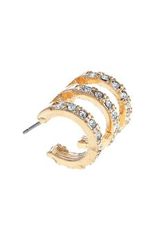 Shoptiques Product: Triple Hoop Earrings