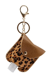 Fashion City Leather Sanitizer Keychain Holder - Front full body
