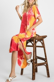 Fashion District Tie Dye Pocketed Dress - Product Mini Image