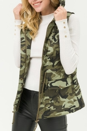 Fashion District LA Camo Hooded Vest - Product Mini Image