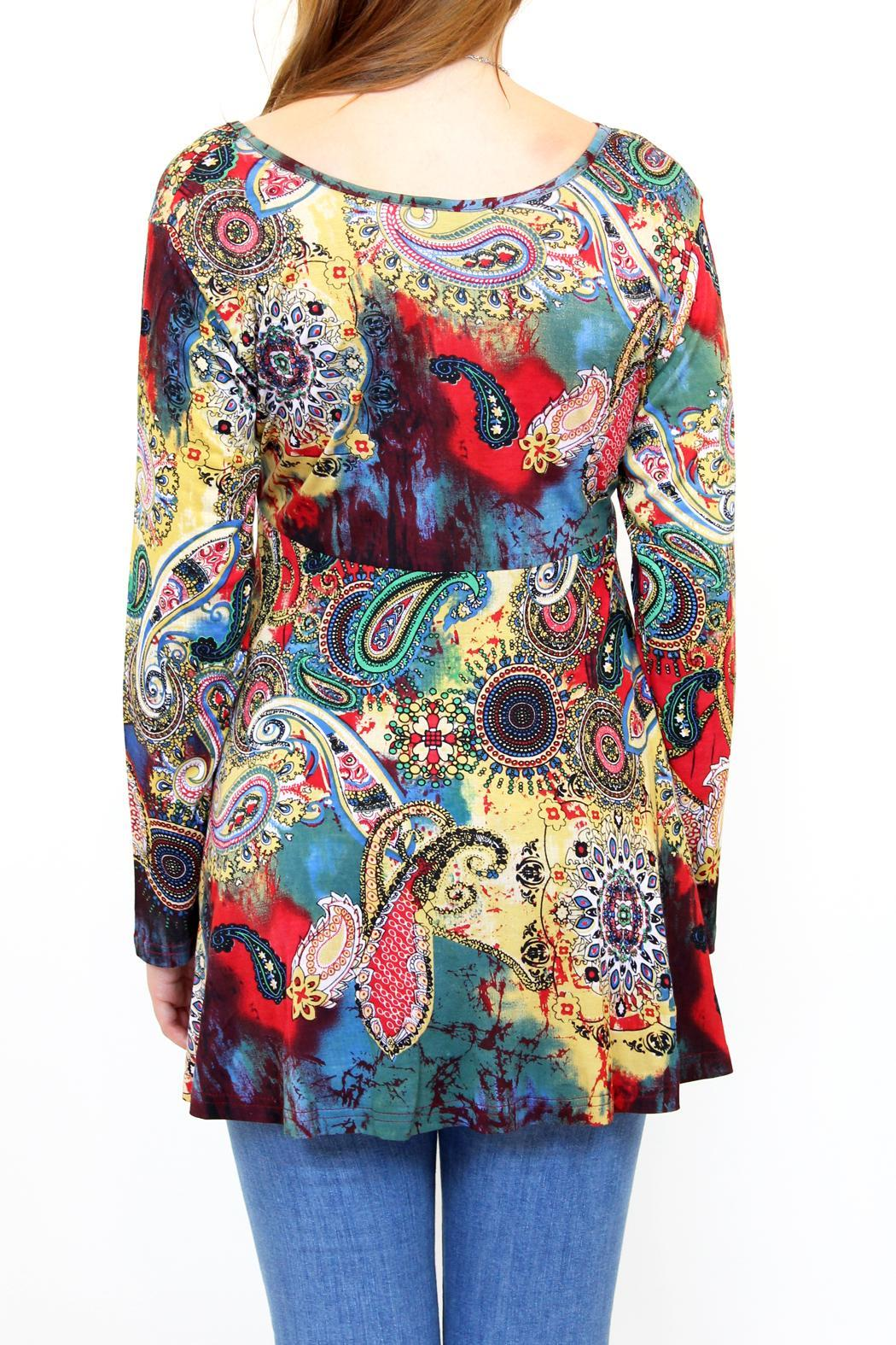fashion_fuse watercolour paisley tunic multicolor 25ab7de8_l fashion fuse watercolour paisley tunic from vancouver by carte the fuse box paisley at nearapp.co