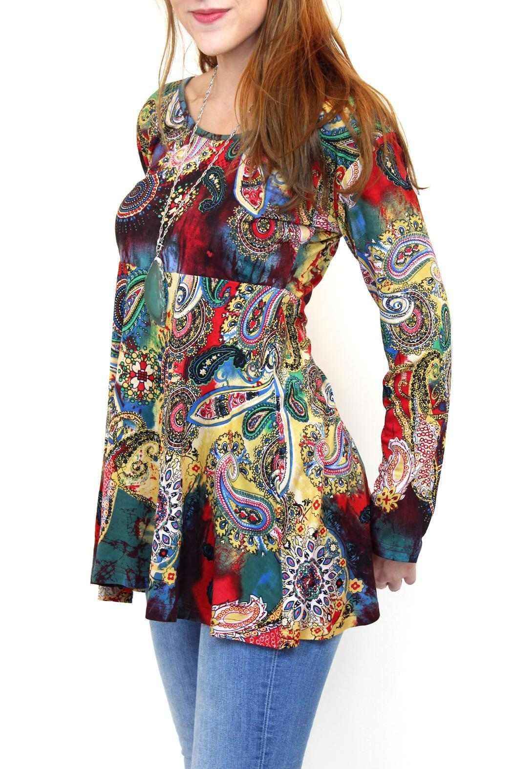 fashion_fuse watercolour paisley tunic multicolor dd7c3791_l fashion fuse watercolour paisley tunic from vancouver by carte the fuse box paisley at nearapp.co