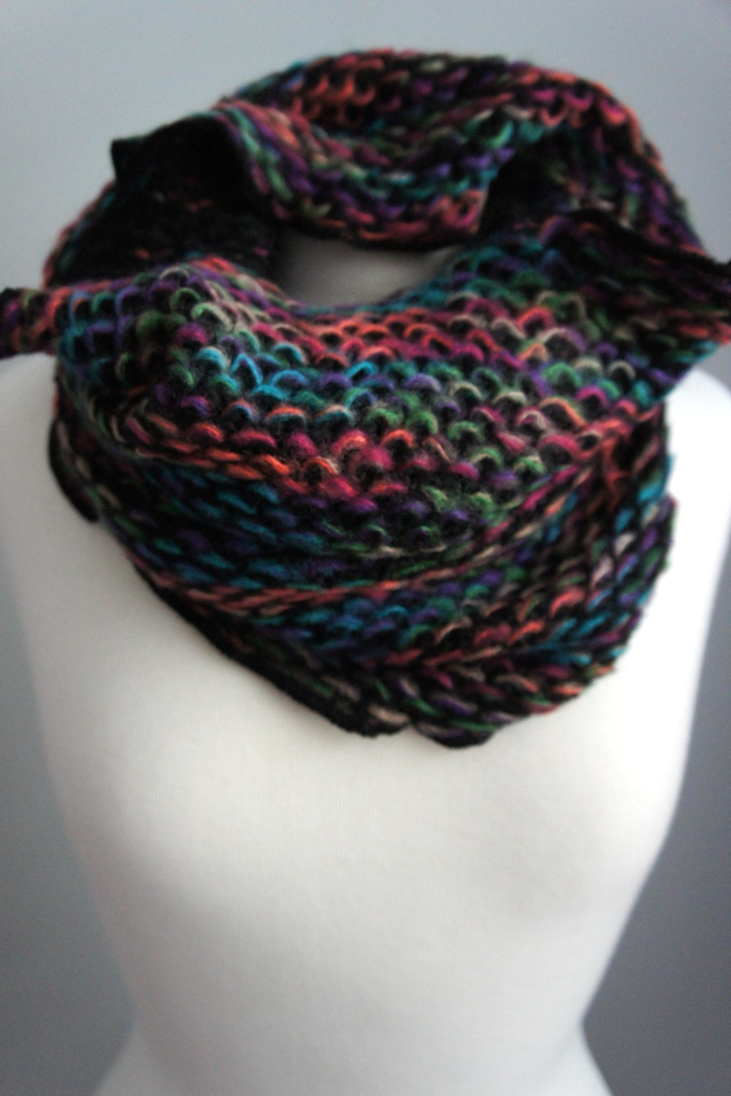 Fashion Hub Chunkknit Tube Scarf - Front Cropped Image