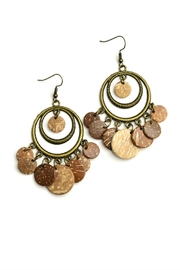 Fashion Jewelry Brown Statement Earrings - Product Mini Image