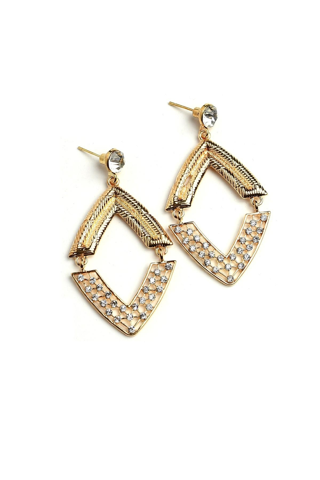 Fashion Jewelry Diamond Earrings - Front Cropped Image