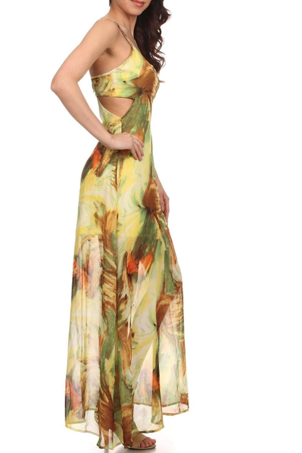 Fashion Line Tropical Print Maxi - Front Full Image