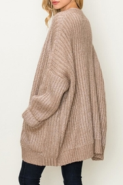 fashion on earth Chunky Pocket Cardi - Front full body