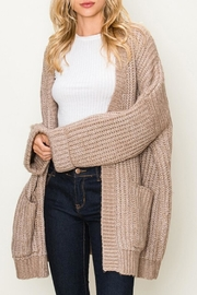fashion on earth Chunky Pocket Cardi - Front cropped