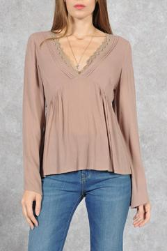fashion on earth Taupe Bohemian Blouse - Product List Image