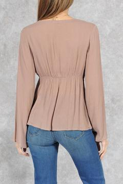 fashion on earth Taupe Bohemian Blouse - Alternate List Image