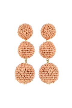 Shoptiques Product: Beaded Ball Earrings