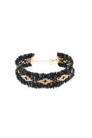 Fashion Pickle Black Gold Choker - Product Mini Image