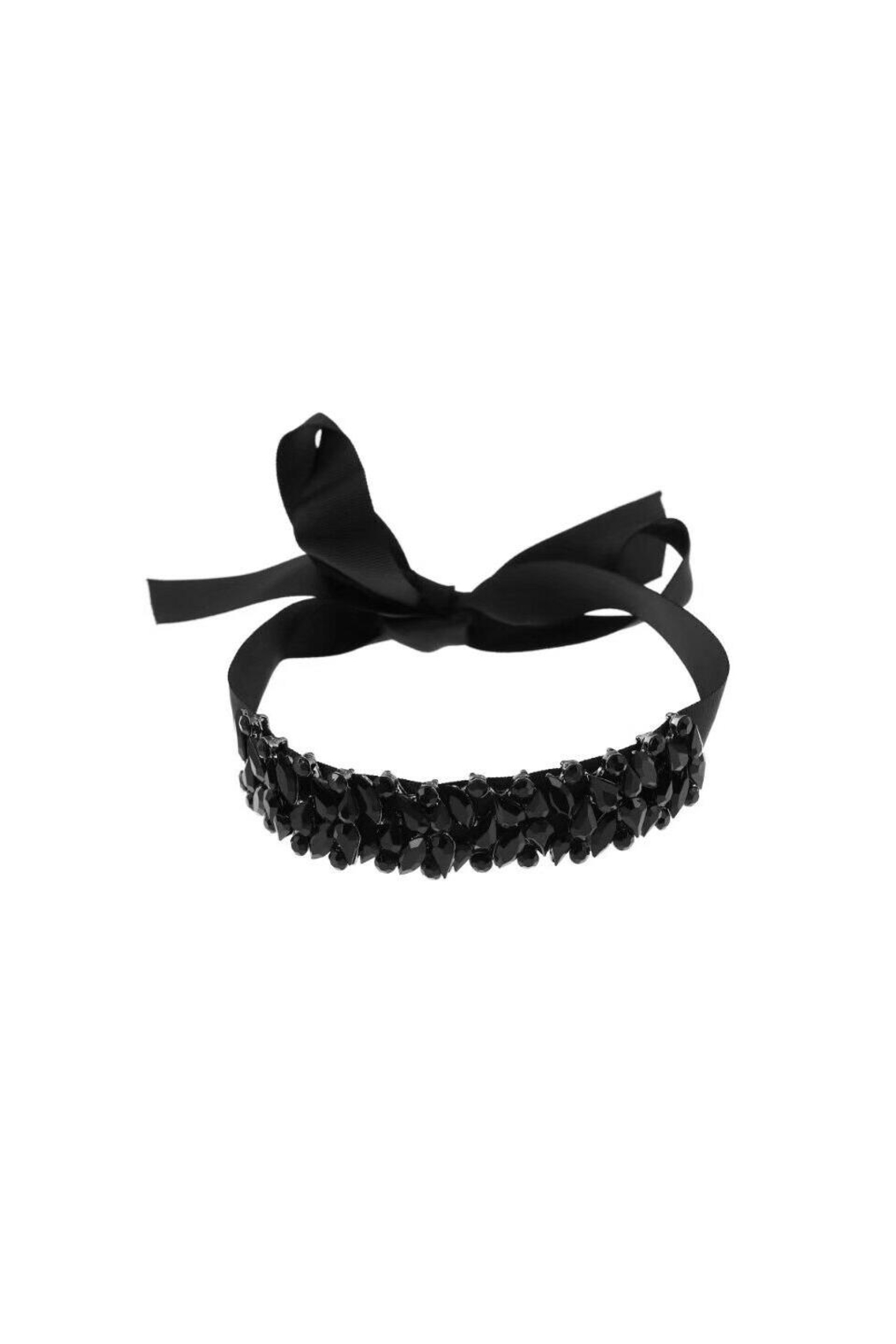 Fashion Pickle Black Statement Choker - Front Cropped Image