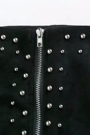 Fashion Pickle Black Suede Skirt - Side cropped