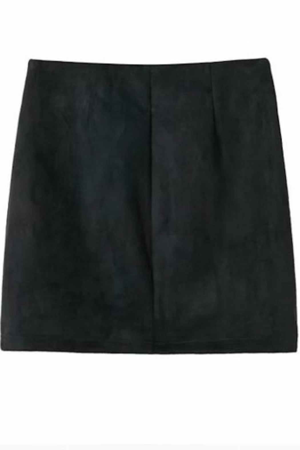 Fashion Pickle Black Suede Skirt - Front Full Image