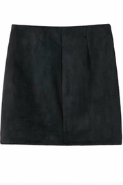 Fashion Pickle Black Suede Skirt - Front full body