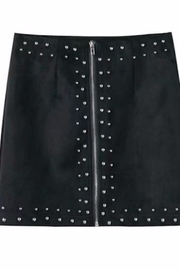 Fashion Pickle Black Suede Skirt - Product Mini Image