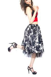 Fashion Pickle Black White Skirt - Side cropped