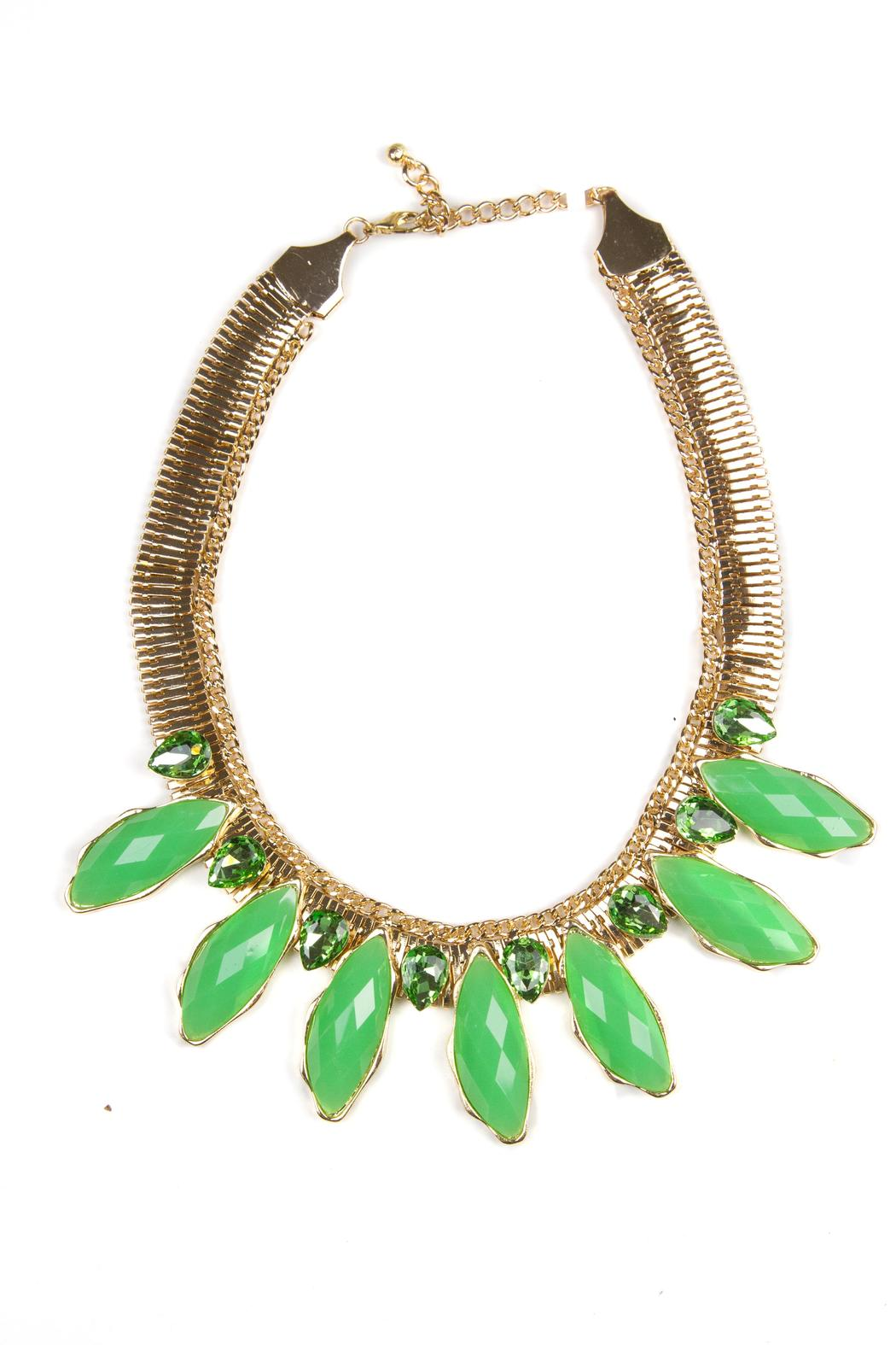 Fashion Pickle Blaj Statement Necklace - Front Cropped Image