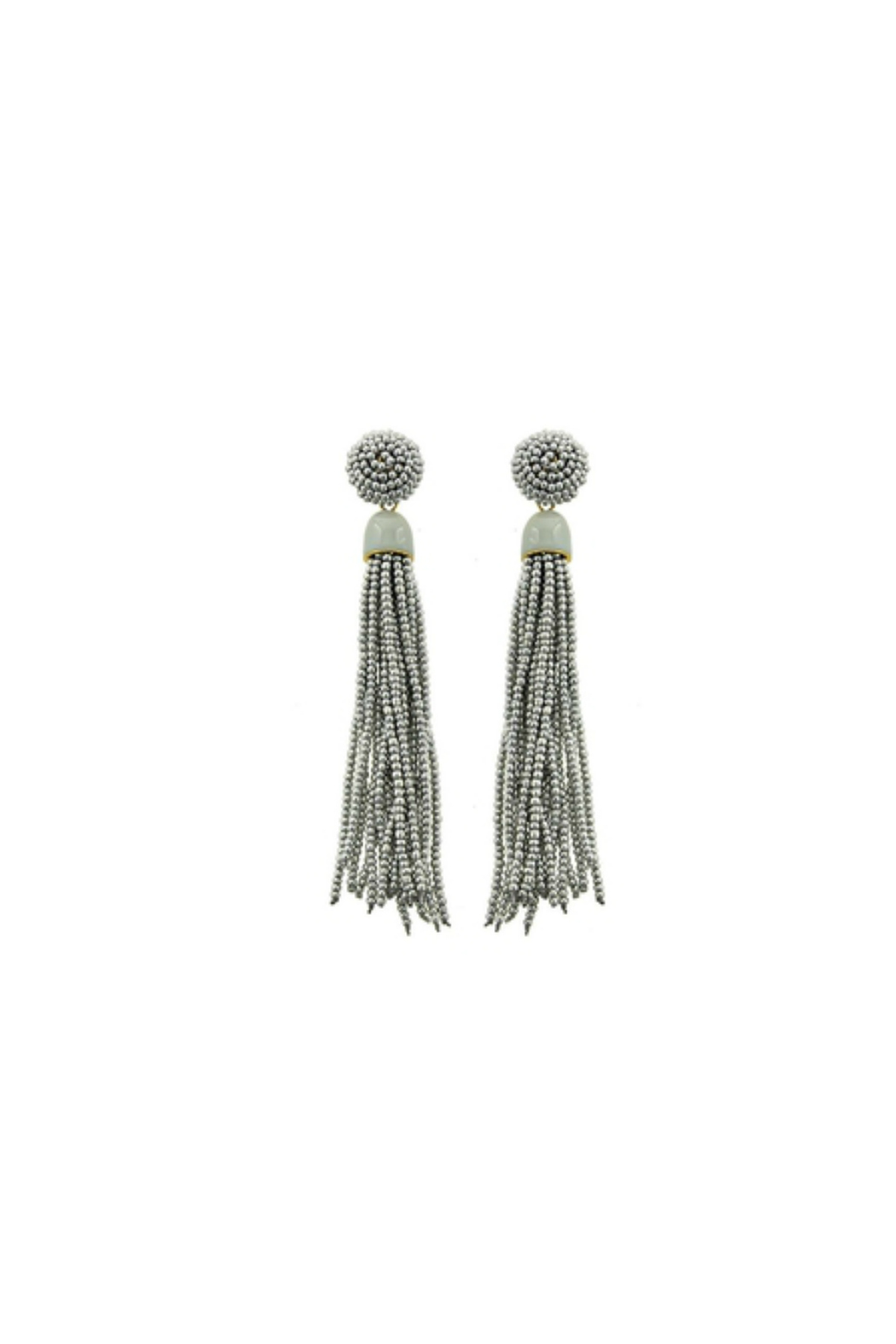 Fashion Pickle Corji Statement Earrings - Front Cropped Image