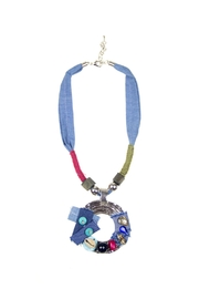 Fashion Pickle Denim Handmade Necklace - Product Mini Image