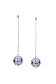 Fashion Pickle Discoball Fashion Earrings - Front cropped