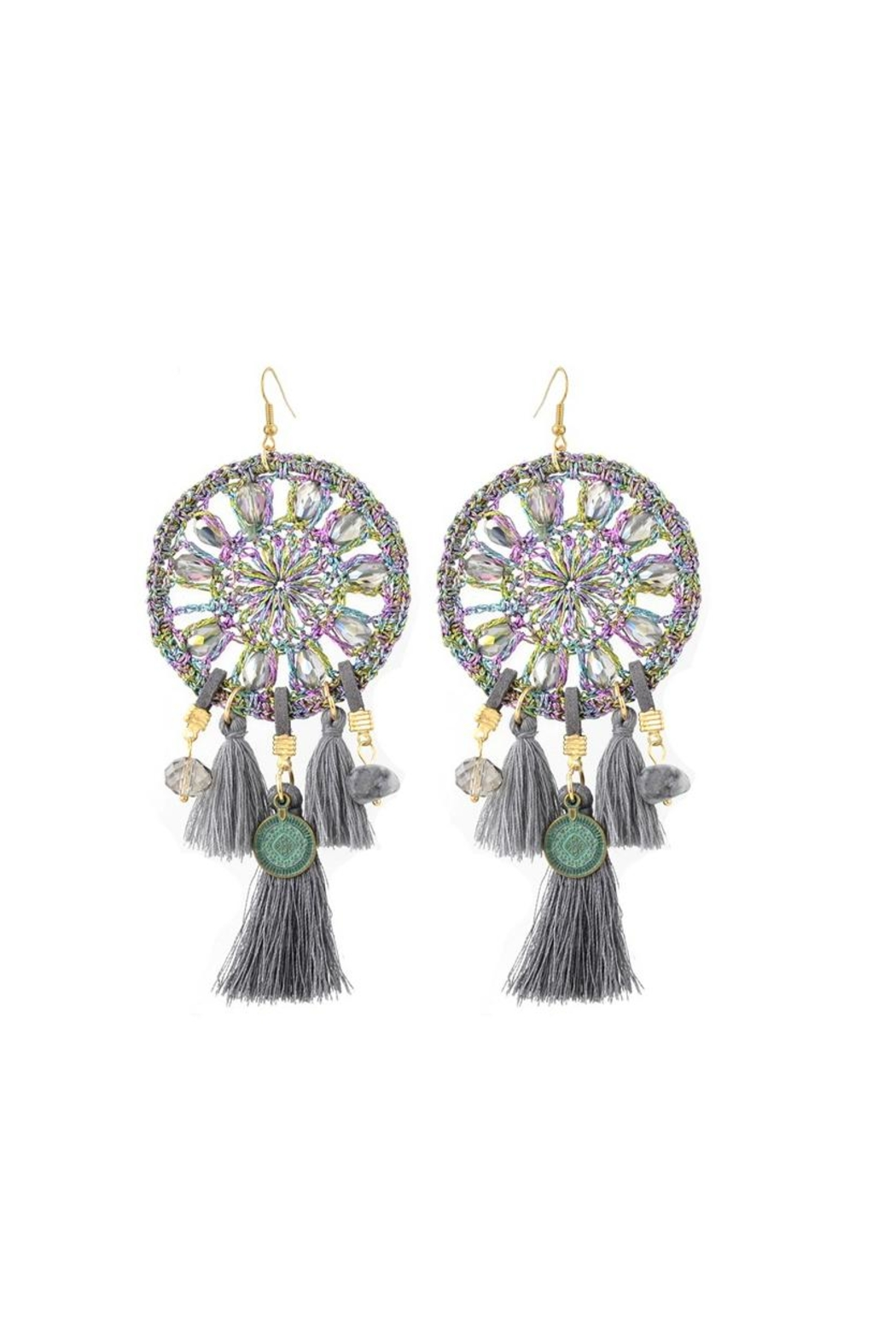 Fashion Pickle Dreamcatcher Statement Earrings - Main Image