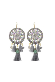 Fashion Pickle Dreamcatcher Statement Earrings - Product Mini Image