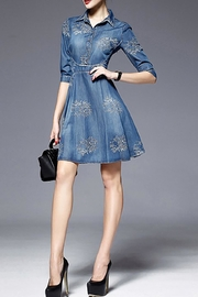 Fashion Pickle Embroidered Denim Dress - Other