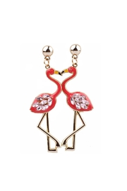 Fashion Pickle Flamingo Statement Earrings - Product Mini Image