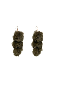 Fashion Pickle Fur Ball Earrings - Product List Image
