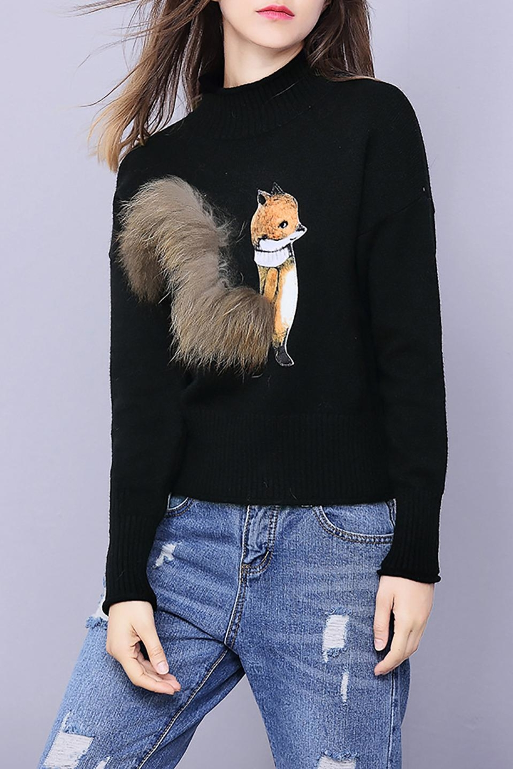 Fashion Pickle Fuzzy Fox Sweater - Main Image