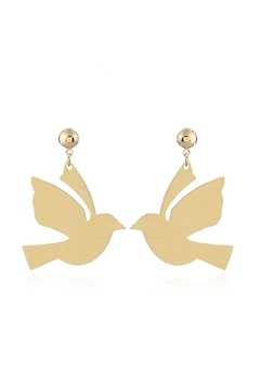 Fashion Pickle Gold Bird Earrings - Alternate List Image