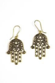 Fashion Pickle Hamsa Earrings - Product Mini Image