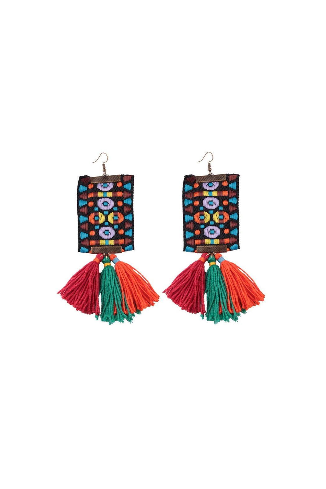 Fashion Pickle Handmade Boho Earrings - Front Cropped Image