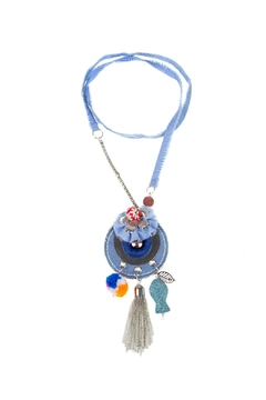 Fashion Pickle Handmade Denim Necklace - Product List Image