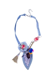 Fashion Pickle Handmade Denim Necklace - Product Mini Image