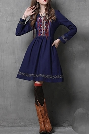 Fashion Pickle Hiral Embroidered Dress - Product Mini Image