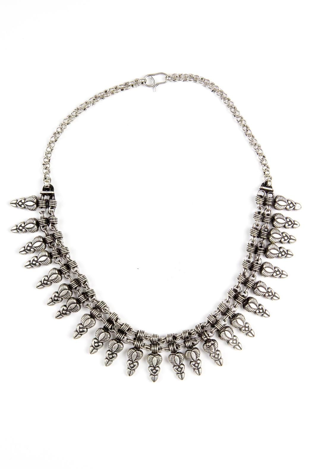 Fashion Pickle Ila Statement Necklace - Front Cropped Image