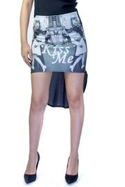 Fashion Pickle Kiss Me High Low Skirt - Product Mini Image