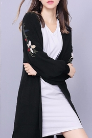 Fashion Pickle Long Cardigan Black - Front cropped