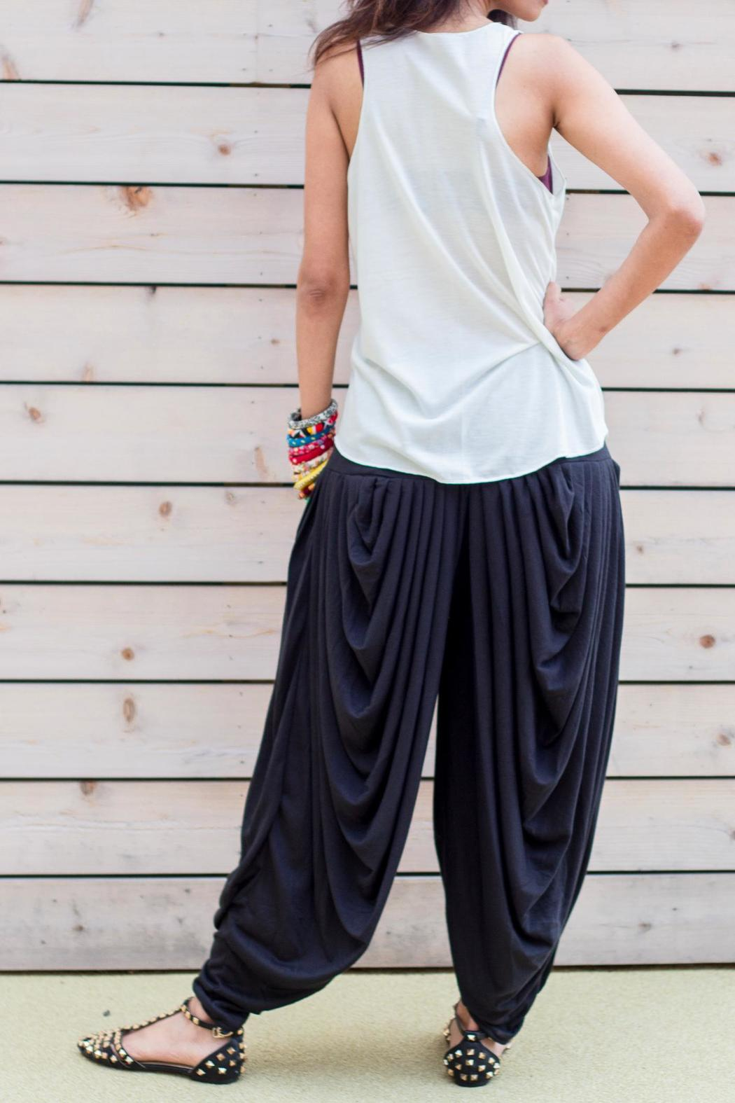 Fashion Pickle Multi Pleated Gypsy Pants - Side Cropped Image