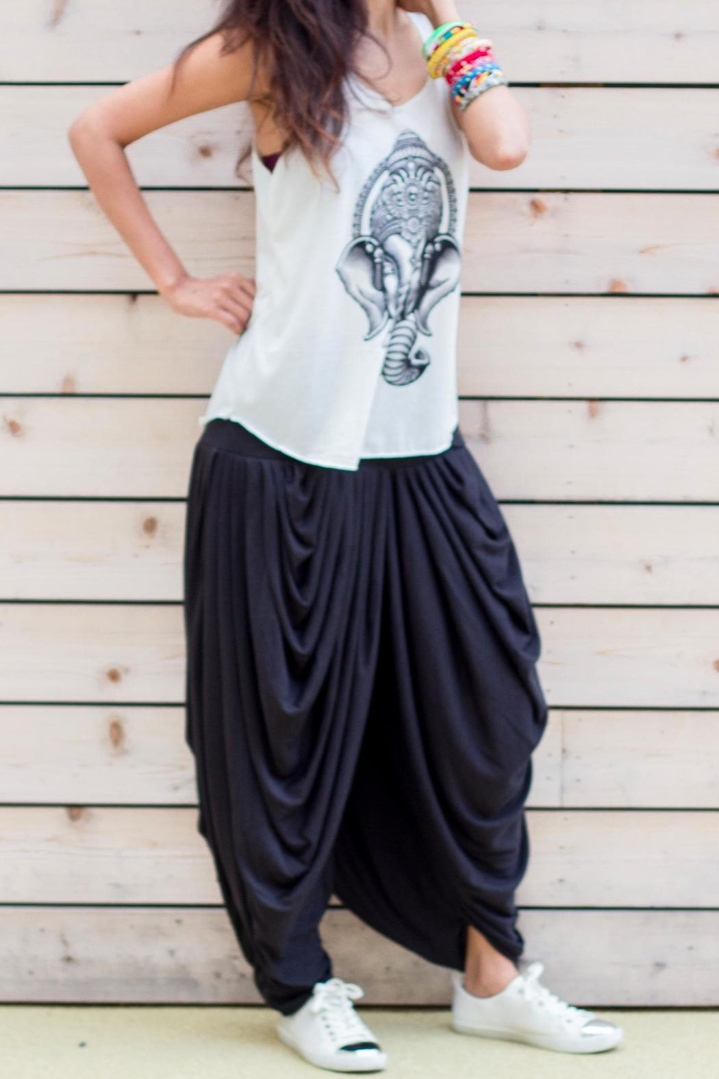 Fashion Pickle Multi Pleated Gypsy Pants - Front Full Image