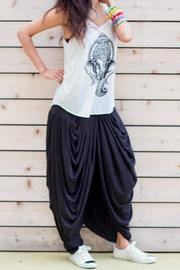 Fashion Pickle Multi Pleated Gypsy Pants - Front full body
