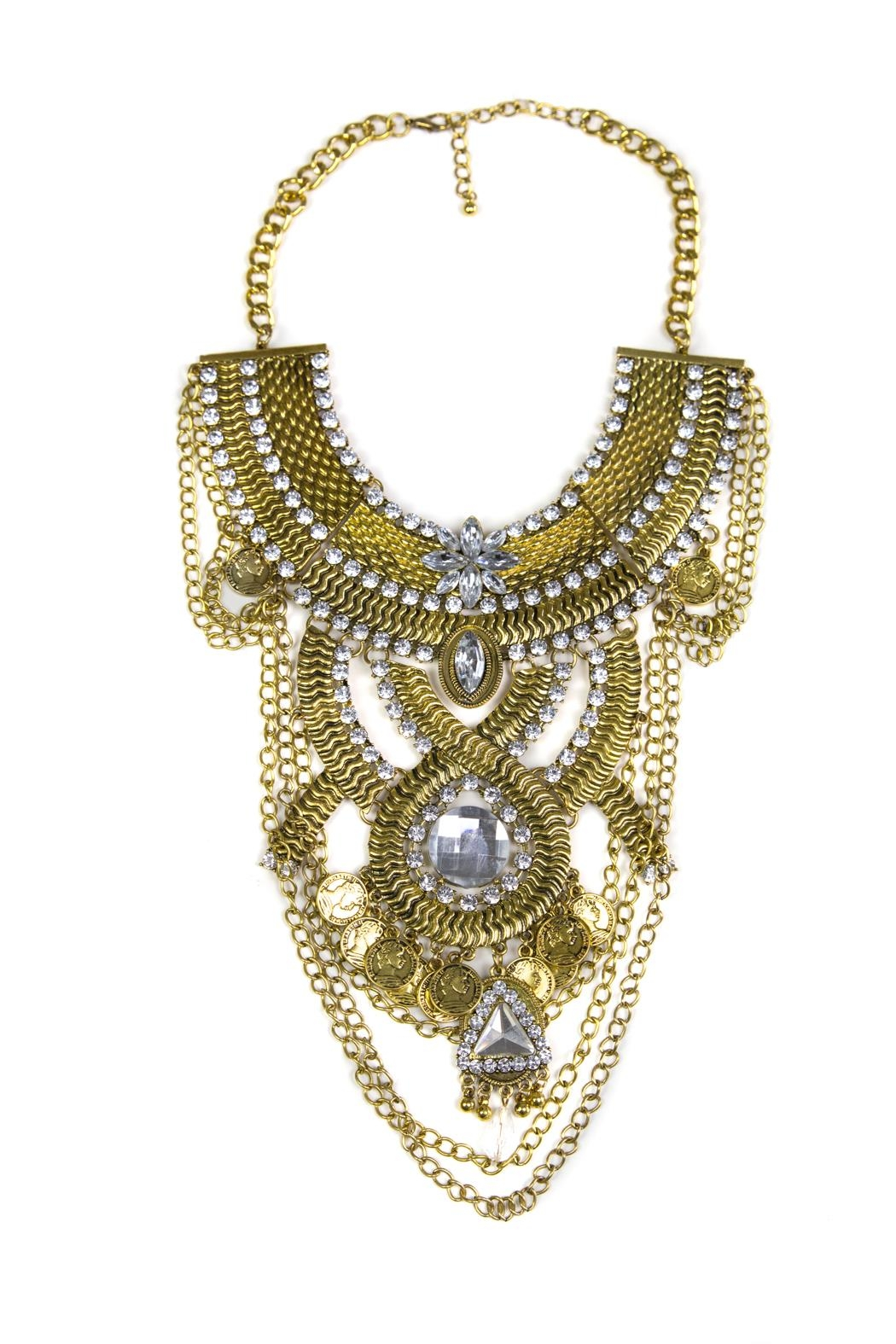 Fashion Pickle Odess Statement Necklace - Front Cropped Image