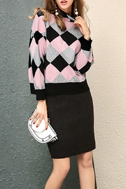 Fashion Pickle Pink Black Sweater - Product Mini Image