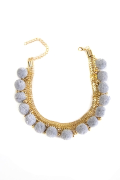 Fashion Pickle Pompom Statement Necklace - Product List Image