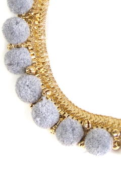 Fashion Pickle Pompom Statement Necklace - Alternate List Image