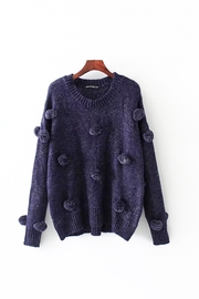 Fashion Pickle Pompom Sweater - Product Mini Image