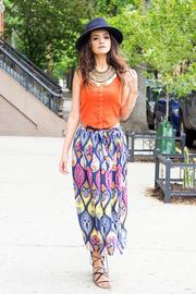 Fashion Pickle Print Long Skirt - Other